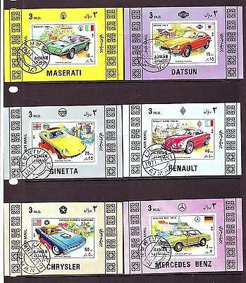 Ajman - 1971 Classic Motor Cars Nh/cto Imperf Deluxe S/s #2