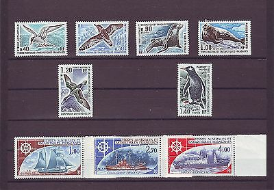 French Antarctic Territories - Sg98-106 Mnh 1976 Birds/seals/ships - Complete