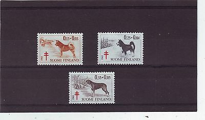 Finland - Sg704-706 Mnh 1963 Tb Relief Fund - Dogs