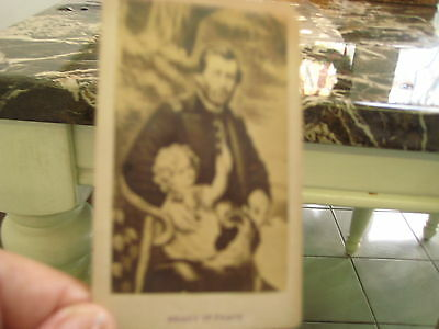 Gen Ulysses S Grant in Peace Photo Card with his Newfoundland Dog c 1860s