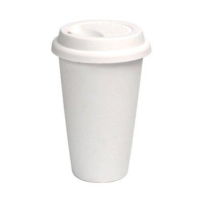16 oz White Disposable Paper Coffee Cup with Cappuccino Lid, 100-Piece Pack