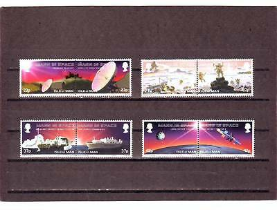 Isle Of Man - Sg1047-1054 Mnh 2003 Mann In Space