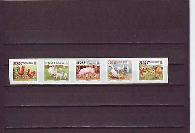 Jersey - Sg1388-1392 Mnh 2008 Farm Animals - Self Adhesive