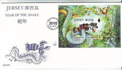 Jersey - Year Of The Snake M/s - Fdc 24/1/01