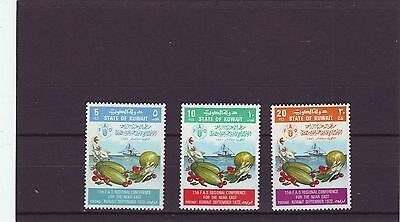 KUWAIT - SG555-557 MNH 1972 11th F.A.O REGIONAL CONFERENCE