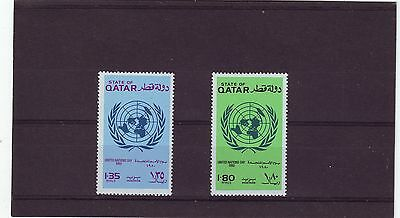 Qatar - Sg699-700 Mnh 1980 United Nations Day