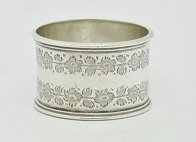 Beautiful Antique Solid Sterling Silver Napkin Ring Hm 1903 Martin, Hall & Co