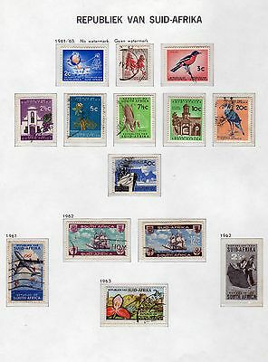 SOUTH AFRICA: 1961-62 ~ Five  Sets on Page ~ Mint & Used