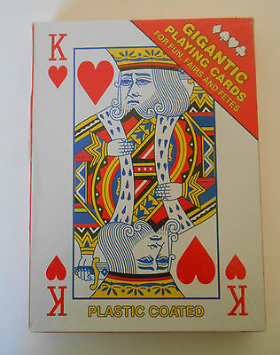 Giant Playing Cards - approx A4 Size - Xmas Party Games - Sealed & New