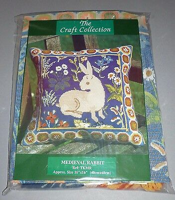 The Craft Collection Medieval Rabbit Tapestry Needlepoint Kit (Like Glorafilia)