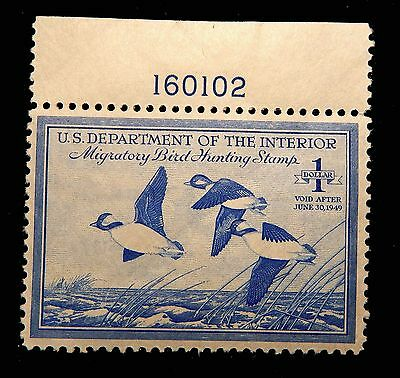 RW15 EF MNH plate number single Federal Duck stamp 1948