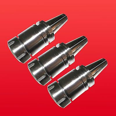 "3PCs BT40 ER40 MILLING COLLET CHUCK HOLDER PROJ. 3.94"" BALANCED 25,000RPM"