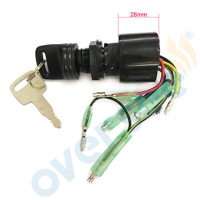 Boat Ignition Key Switch, 3 Position Magneto, Off-Run-Start Mercury 87-17009A5