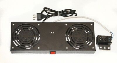 Kit 2 Fans With Termostato For Armadi Rack A Muro Link Black Lkvent2