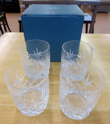 Lenox Bar Crystal Charleston Double On The Rocks Old Fashioned Glass Set of 4