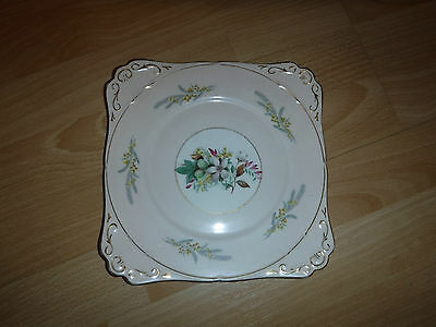vintage royal stafford bone china square cake/bread and butter plate