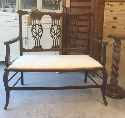 Victorian/Edwardian Antique Mahogany,Settee,Chair,Bench.Kent Furniture Showroom