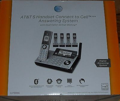 Brand New AT&T CLP99586 5 Handset Connect to Cell Answering Sys Dual Caller ID