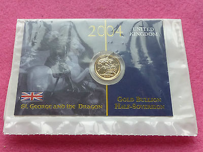 2004 Gold Half  Sovereign  Coin - Sealed In Mint Packaging