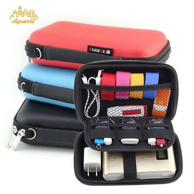 Portable Hand Carry Case Pouch 2.5 Inch Power Bank USB Hard Protector Bag