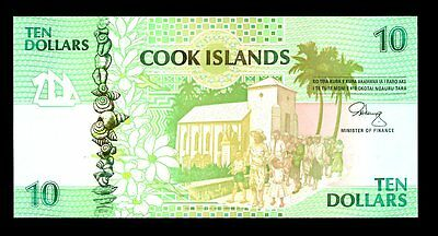 Cook Islands ... P-8 ... 10 Dollars ... ND(1992) ... *UNC*