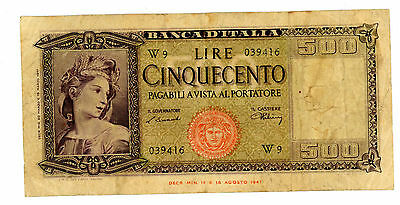 Italy … P-80a(BI.544sp) … 500 Lire … 20-3-1947 … *F*  Replacement W.