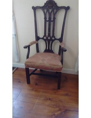 """Antique Reproduction of George Washington's """"Rising Sun Chair"""""""