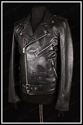 Men's New Genuine Lambskin Leather Jacket Black Slim fit Biker Motorcycle jacket