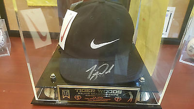 Tiger Woods Autographed Black Nike Hat w/tags and COA
