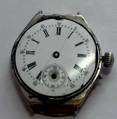 Antique Swiss Watch For Spares Or Repairs