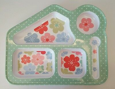 Cath Kidston Toddler Girls Floral  Spotted Plastic Plate