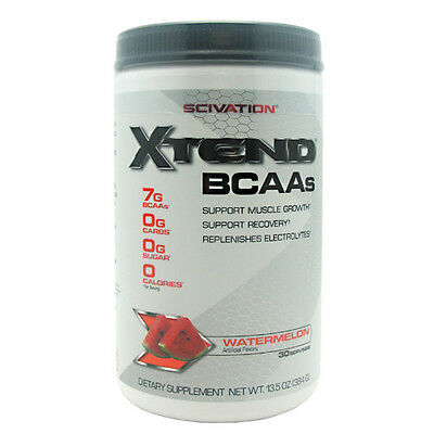 SCIVATION XTEND 30 Srv WATERMELON MADNESS   BCAA SUPPORT MUSCLE GROWTH amino