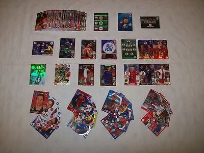 Bundle of 200 Panini Adrenalyn XL France Euro 2016 Trading Cards (A8)