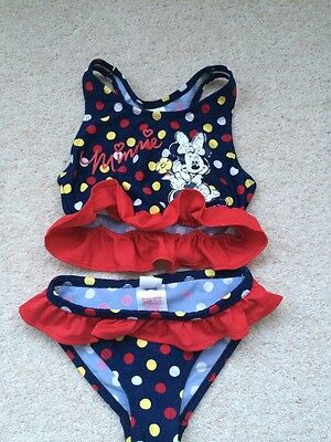Beautiful Disney Minnie Mouse Girls Bikini , Size  3 to 4 Years
