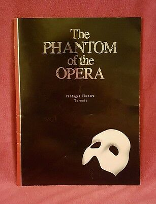 Phantom of the Opera Pantages Theatre Toronto, Canada - Playbill
