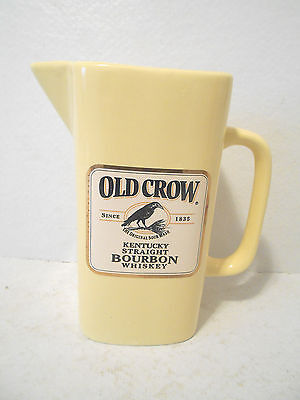 Wade Old Crow Kentucky Straight Bourbon Whiskey Pitcher - Yellow