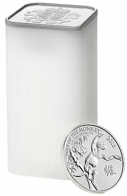Tube of 25 - 2016 Great Britain 1oz Silver Year of the Monkey .999 Fine BU