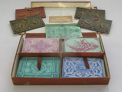 Antique Royal Game of Bezique by Chas Goodall & Son, Playing Cards c1870