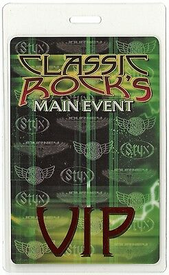 Styx authentic 2003 concert tour Laminated Backstage Pass