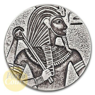 2016 Republic of Chad 5 oz Silver King Tut Box & COA RARE