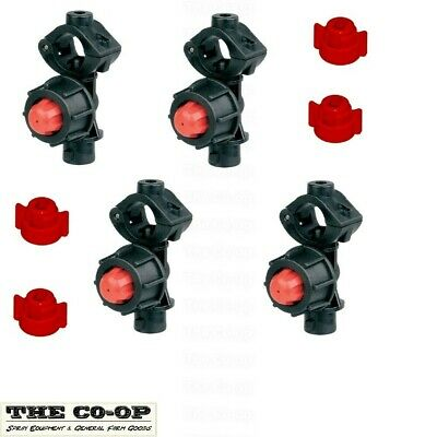 "boom spray nozzle holder non-drip  1/2"" cap and gaskets (4 pack)."