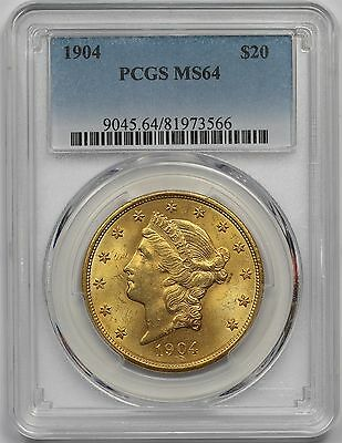 1904 Liberty Head Gold Double Eagle $20 MS 64 PCGS