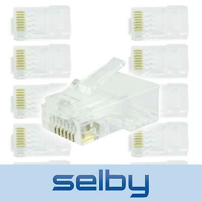 10 Pack RJ45 8P8C Cat6 Modular Connector Plugs for Ethernet Network LAN