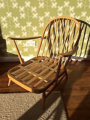 Ercol Windsor blonde easy chair Mid Century Retro Can liaise with courier