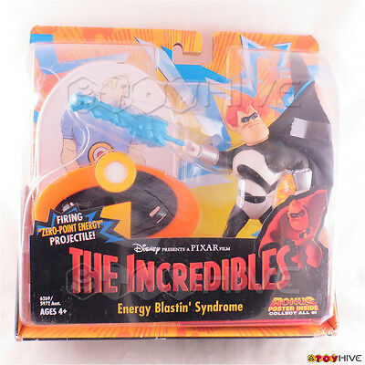 Disney Pixar The Incredibles Energy Blastin Syndrome bad guy action figure 2003