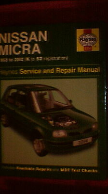 Haynes Service & Repairs Manual - Nissan Micra  1993 - 2002