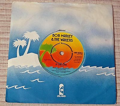 Bob Marley & The Wailers Is This Love / Crisis (Version) 1978 UK 7 inch 45 EX