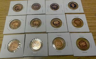 Canadian Proof Pennies Lot of 13