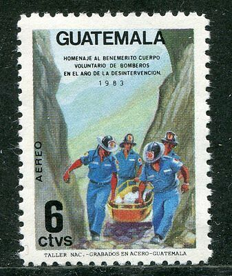 Guatmala 1986 Volunteer Fire Fighting Stamp Mint Never Hinged Complete!