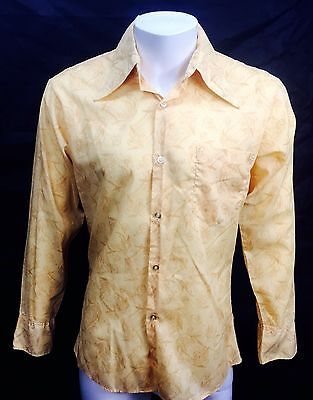Vintage 70s SPIRE California Rockabilly Mod Disco Hippie shirt Mens size Medium
